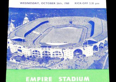England v Spain 26.10.1960
