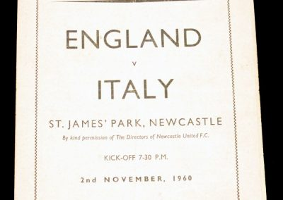 England v Italy 02.11.1960