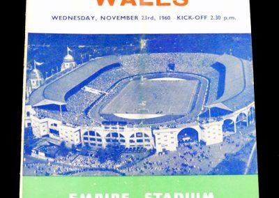 England v Wales 23.11.1960
