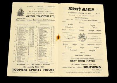 Newport County v Southampton 09.01.1958