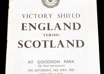 England v Scotland 14.05.1955   Schools FA