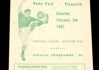 Plymouth Argyle v Southampton 09.02.1957