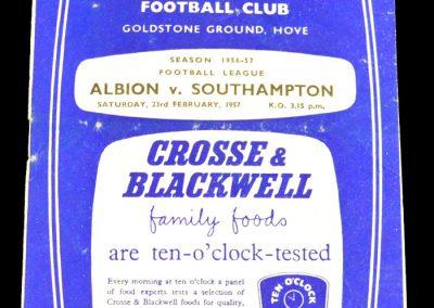 Brighton and Hove Albion v Southampton 23.02.1957