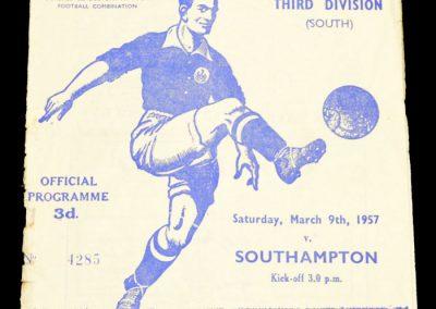 Ipswich Town v Southampton 09.03.1957