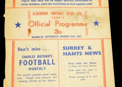 Aldershot v Southampton 23.03.1957