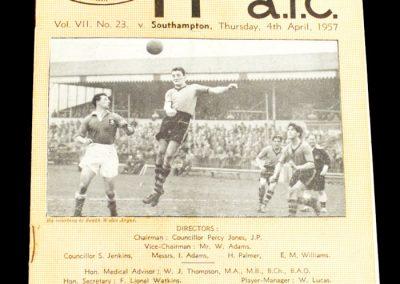 Newport County v Southampton 04.04.1957