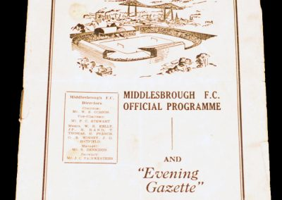 Middlesbrough FC v West Ham United 30.10.1954
