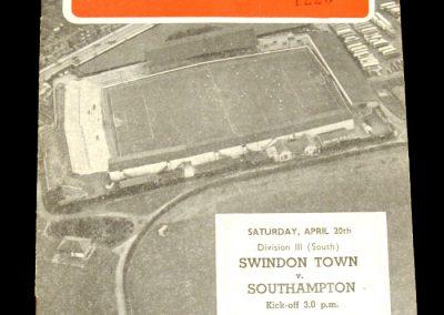 Swindon Town v Southampton 20.04.1957