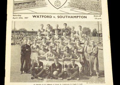Watford v Southampton 27.04.1957