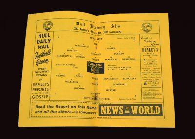 Hull City v Rotherham United 02.10.1954