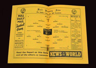 Hull City v Nottingham Forest 01.01.1955