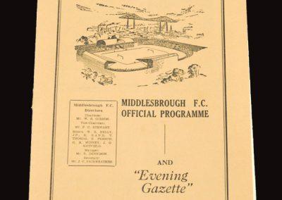 Middlesbrough v Hull City 05.02.1955