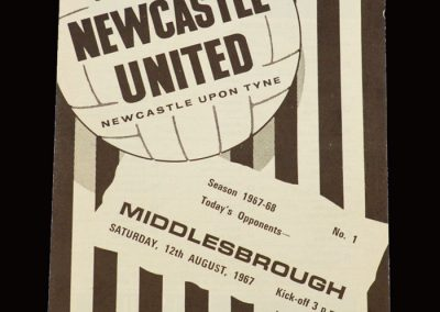 Middlesbrough v Newcastle 12.08.1967- Friendly