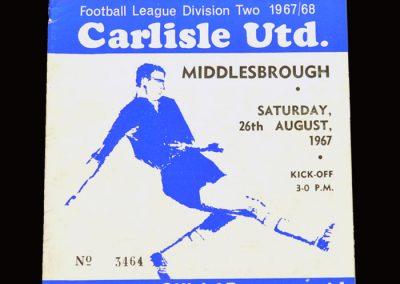 Middlesbrough v Carlisle 26.08.1967