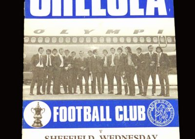 Chelsea v Sheff Wed 22.09.1970 - League Cup 2nd Round Replay