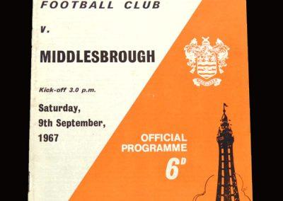Middlesbrough v Blackpool 09.09.1967