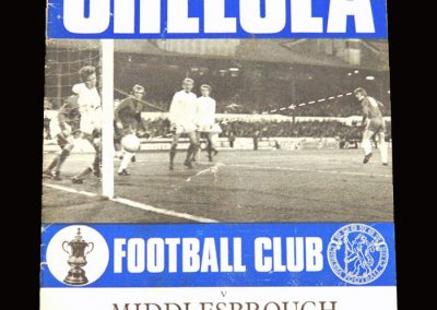 Chelsea v Middlesbrough 07.10.1970 - League Cup 3rd Round
