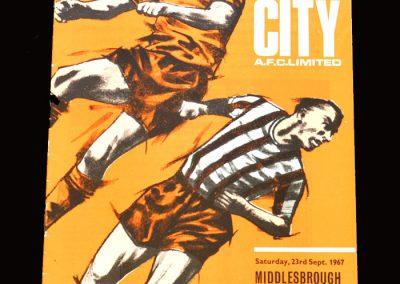 Middlesbrough v Hull 23.09.1967
