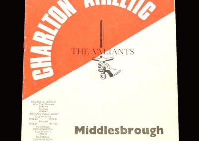 Middlesbrough v Charlton 07.10.1967