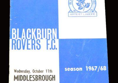 Middlesbrough v Blackburn 11.10.1967