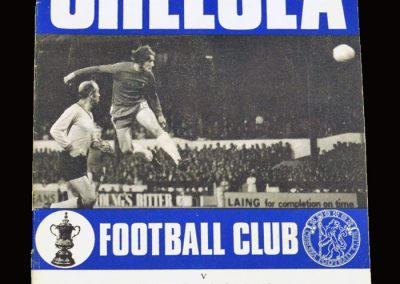 Chelsea v CSKA Sofia 04.11.1970 - UEFA Cup Winners Cup 2nd Round 2nd Leg