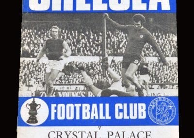 Chelsea v Crystal Palace 06.01.1971 - FA Cup 3rd Round Replay