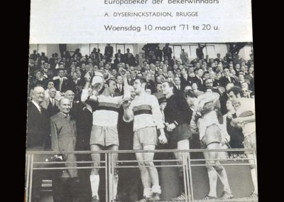 Chelsea v Club Brugge 10.03.1971 - UEFA Cup Winners Cup Quarter Final 2nd Leg