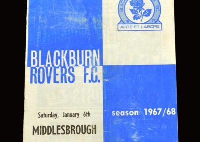 Middlesbrough v Blackburn 06.01.1968