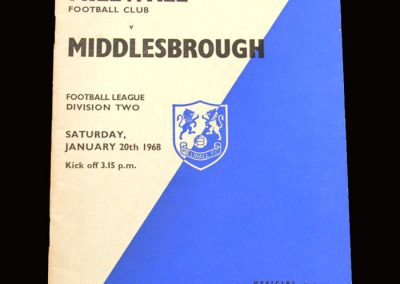 Middlesbrough v Millwall 20.01.1968