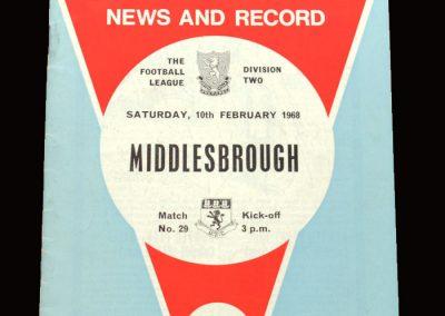 Middlesbrough v Aston Villa 10.02.1968