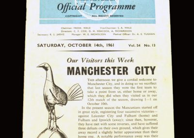 Spurs v Man City 14.10.1961