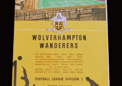Wolves v Man City 28.10.1961