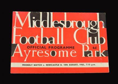 Middlesbrough v Newcastle 10.08.1965 - Friendly