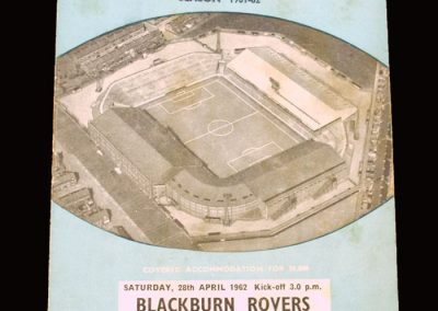 Man City v Blackburn 28.04.1962