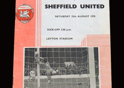 Leyton Orient v Sheff Utd 15.08.1970