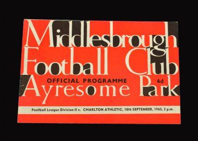 Middlesbrough v Charlton 18.09.1965