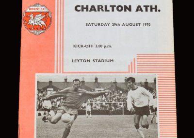 Leyton Orient v Charlton 29.08.1970