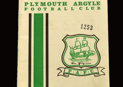 Middlesbrough v Plymouth 25.09.1965