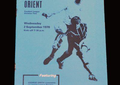 Leyton Orient v Portsmouth 02.09.1970