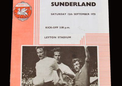 Leyton Orient v Sunderland 12.09.1970