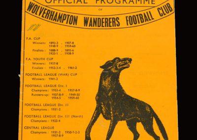 Middlesbrough v Wolves 16.10.1965
