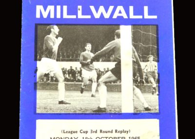 Middlesbrough v Millwall 18.10.1965 - League Cup 3rd Round Replay