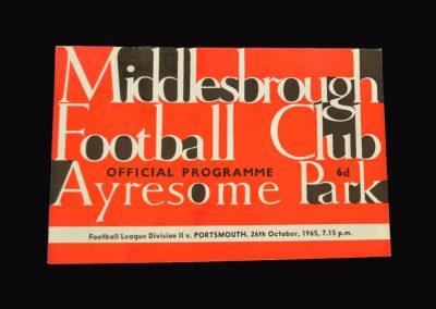 Middlesbrough v Portsmouth 26.10.1965