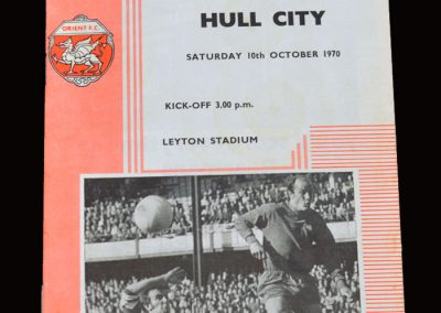 Leyton Orient v Hull 10.10.1970