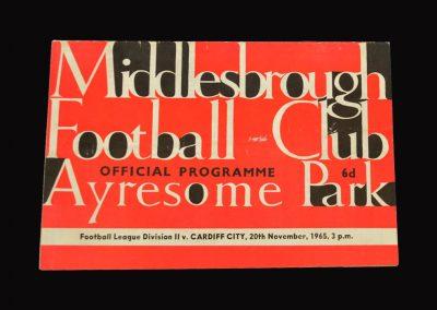 Middlesbrough v Cardiff 20.11.1965