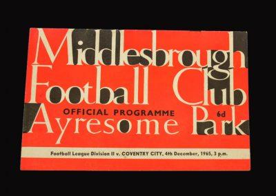 Middlesbrough v Coventry 04.12.1965