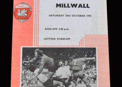 Leyton Orient v Millwall 24.10.1970