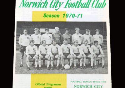 Leyton Orient v Norwich 31.10.1970