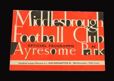 Middlesbrough v Wolves 18.12.1965