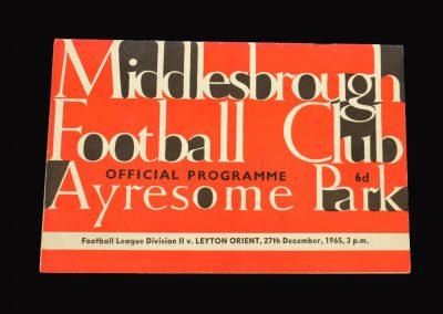 Middlesbrough v Leyton Orient 27.12.1965